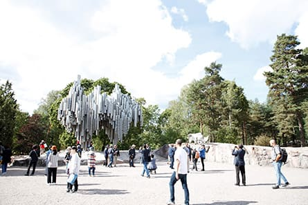 The Sibelius Monument in Helsinki City